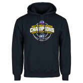Navy Fleece Hoodie-2017 SoCon Regular Season Basketball Champions - Arched