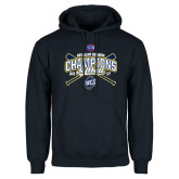 Navy Fleece Hoodie-2017 SoCon Regular Season Softball Champions - Crossed Bats