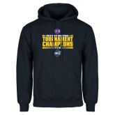 Navy Fleece Hoodie-2018 Mens Basketball Champions - Stacked