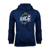 Navy Fleece Hood-UNCG Shield