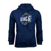 Navy Fleece Hoodie-UNCG Shield