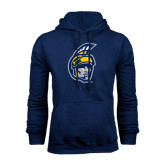 Navy Fleece Hoodie-Spartan Head