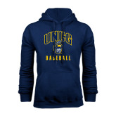 Navy Fleece Hood-Baseball