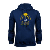 Navy Fleece Hood-Stacked Basketball