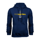 Navy Fleece Hoodie-Basketball Net Design