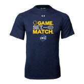Under Armour Navy Tech Tee-Game Set Match - Tennis Design