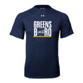 Under Armour Navy Tech Tee-Greensboro Stacked with Shield