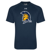 Under Armour Navy Tech Tee-Spartan Logo