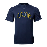 Under Armour Navy Tech Tee-Arched UNCG