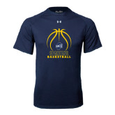 Under Armour Navy Tech Tee-Stacked Basketball