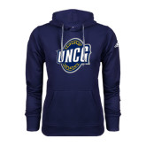 Adidas Climawarm Navy Team Issue Hoodie-UNCG Shield