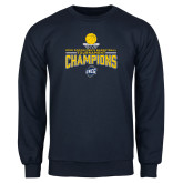 Navy Fleece Crew-2018 Mens Basketball Champions - Net w/ Basketball