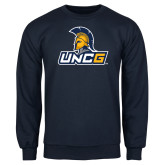 Navy Fleece Crew-Lock Up