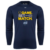 Under Armour Navy Long Sleeve Tech Tee-Game Set Match - Tennis Design