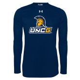 Under Armour Navy Long Sleeve Tech Tee-Lock Up