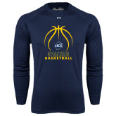 Under Armour Navy Long Sleeve Tech Tee-Stacked Basketball