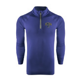 Under Armour Navy Tech 1/4 Zip Performance Shirt-Arched UNCG w/Spartan
