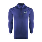 Under Armour Navy Tech 1/4 Zip Performance Shirt-UNCG Shield