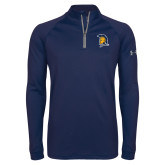 Under Armour Navy Tech 1/4 Zip Performance Shirt-Spartan Logo