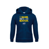 Youth Navy Fleece Hoodie-Game Set Match - Tennis Design