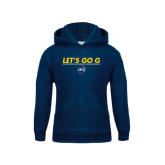Youth Navy Fleece Hood-Lets Go G