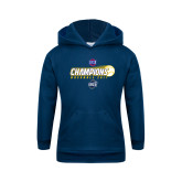 Youth Navy Fleece Hoodie-Baseball SoCon Champions 2017 - Ball in Motion