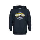 Youth Navy Fleece Hoodie-2017 SoCon Regular Season Basketball Champions - Arched