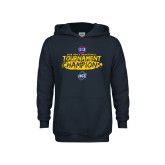 Youth Navy Fleece Hoodie-2018 Mens Basketball Champions - Brush