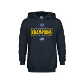 Youth Navy Fleece Hoodie-2018 Mens Basketball Champions - Box