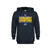 Youth Navy Fleece Hoodie-2018 Mens Basketball Champions - Stacked