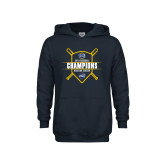 Youth Navy Fleece Hoodie-2018 Baseball Regular Season Champions