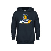 Youth Navy Fleece Hoodie-Basketball