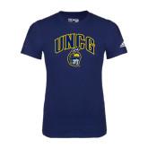 Adidas Navy Logo T Shirt-Arched UNCG w/Spartan