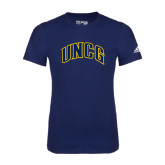 Adidas Navy Logo T Shirt-Arched UNCG