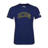 Adidas Navy Logo T Shirt-Arched UNCG