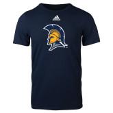 Adidas Navy Logo T Shirt-Spartan Logo