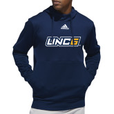 Adidas Navy Team Issue Hoodie-Spartan Logo