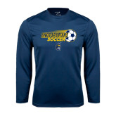 Syntrel Performance Navy Longsleeve Shirt-Soccer Ball Design