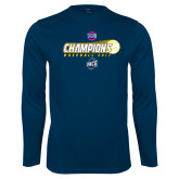 Syntrel Performance Navy Longsleeve Shirt-Baseball SoCon Champions 2017 - Ball in Motion