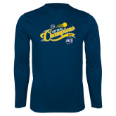 Performance Navy Longsleeve Shirt-2018 Softball Champions