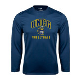 Performance Navy Longsleeve Shirt-Volleyball
