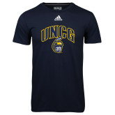 Adidas Climalite Navy Ultimate Performance Tee-Arched UNCG w/Spartan