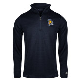 Russell Navy Heather 1/4 Zip-Spartan Logo
