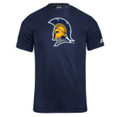 Russell Core Performance Navy Tee-Spartan Logo