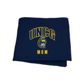 Navy Sweatshirt Blanket-Mom