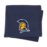 Navy Sweatshirt Blanket-Spartan Logo