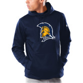 Under Armour Navy Armour Fleece Hoodie-Spartan Logo