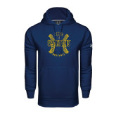 Under Armour Navy Performance Sweats Team Hoodie-Basball Ball Design