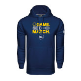 Under Armour Navy Performance Sweats Team Hood-Game Set Match - Tennis Design