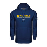 Under Armour Navy Performance Sweats Team Hoodie-Lets Go G